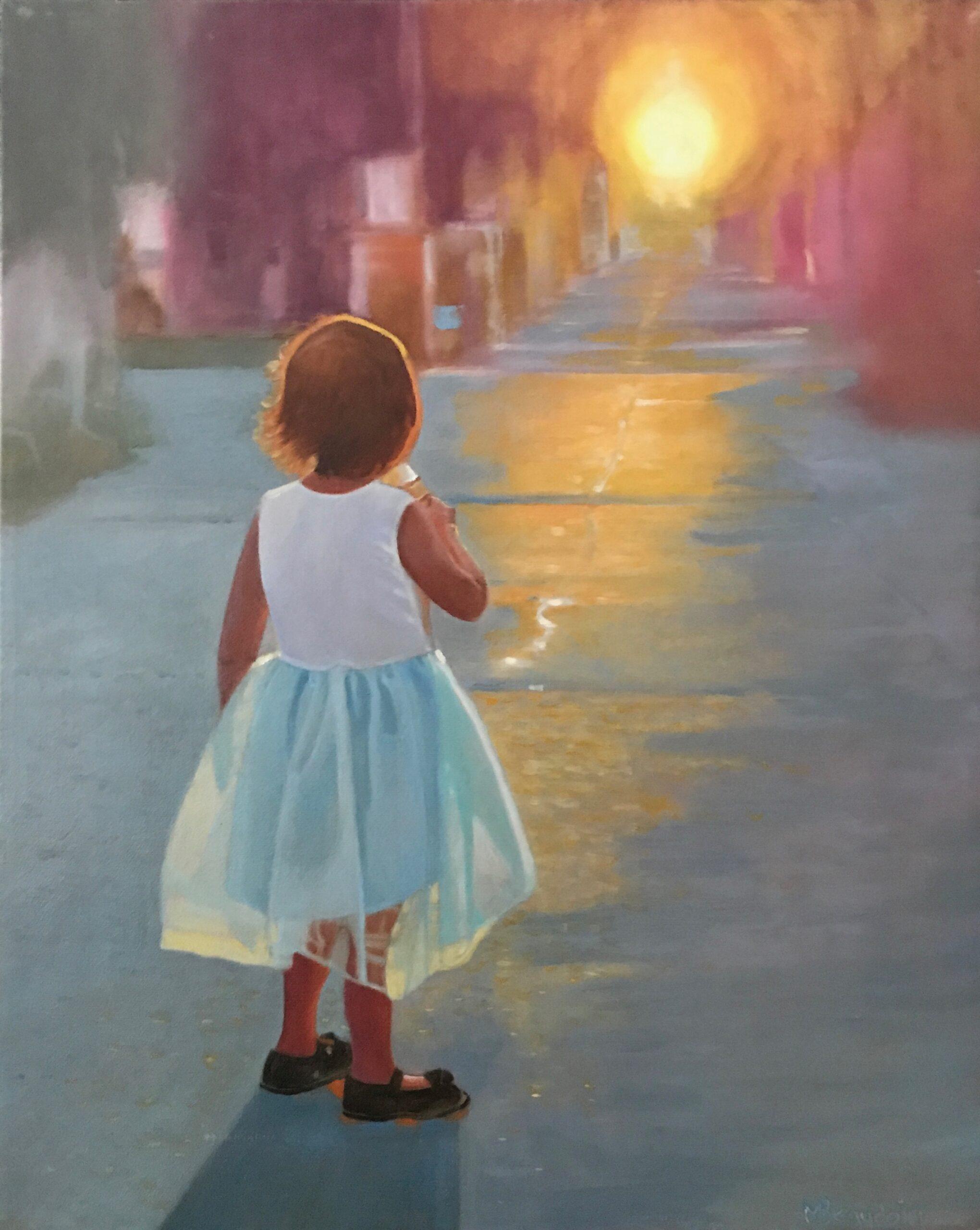 petite princesse, crème glacée et coucher de soleil