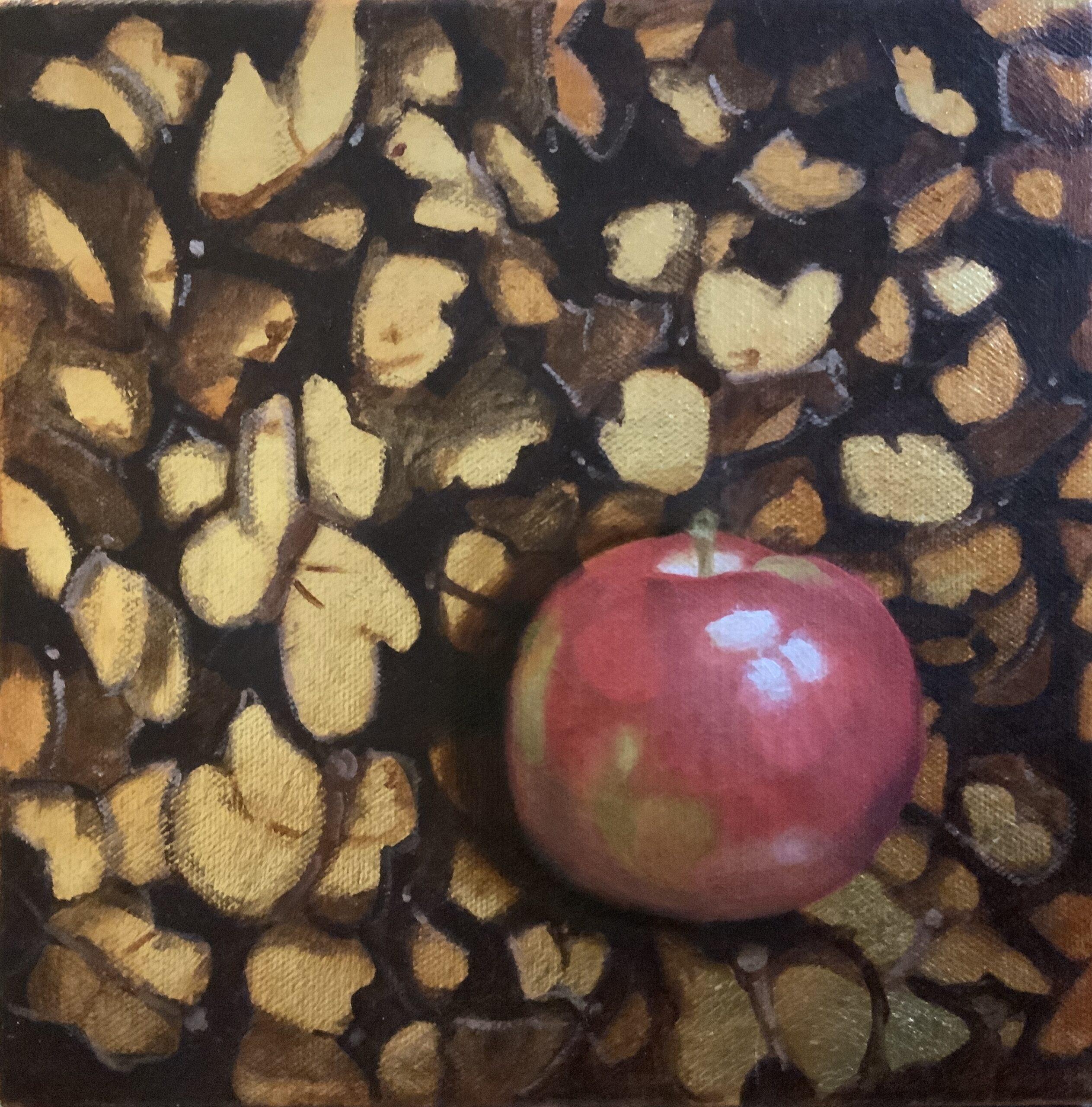 Pomme et papillons d'or