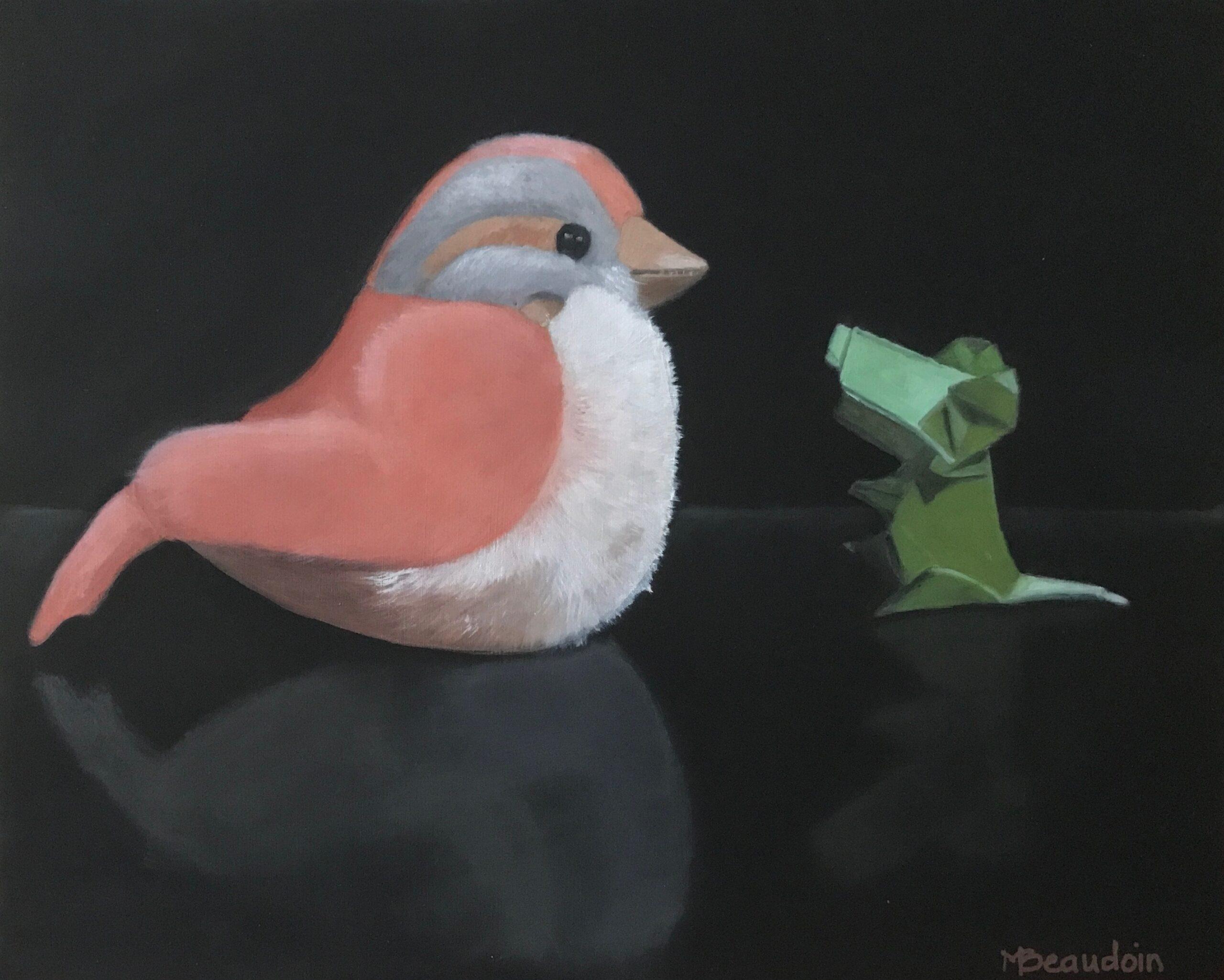 L'oiseau en peluche et la souris verte / Stuffed bird and the green mouse