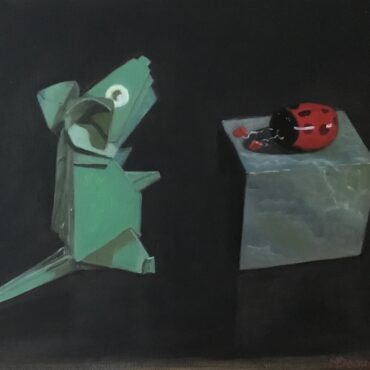 Souris verte et coccinelle / Green mouse and ladybug