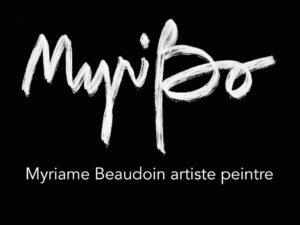 Myriame Beaudoin artiste peintre alias MyriBo logo