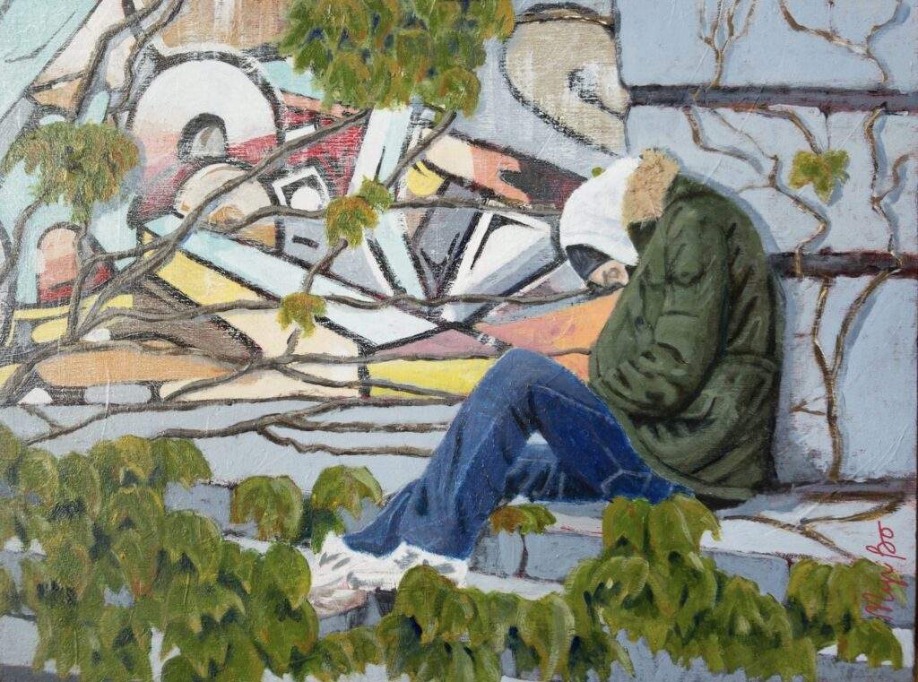 Toile de Myriame Beaudoin artiste peintre figurative contemporaine