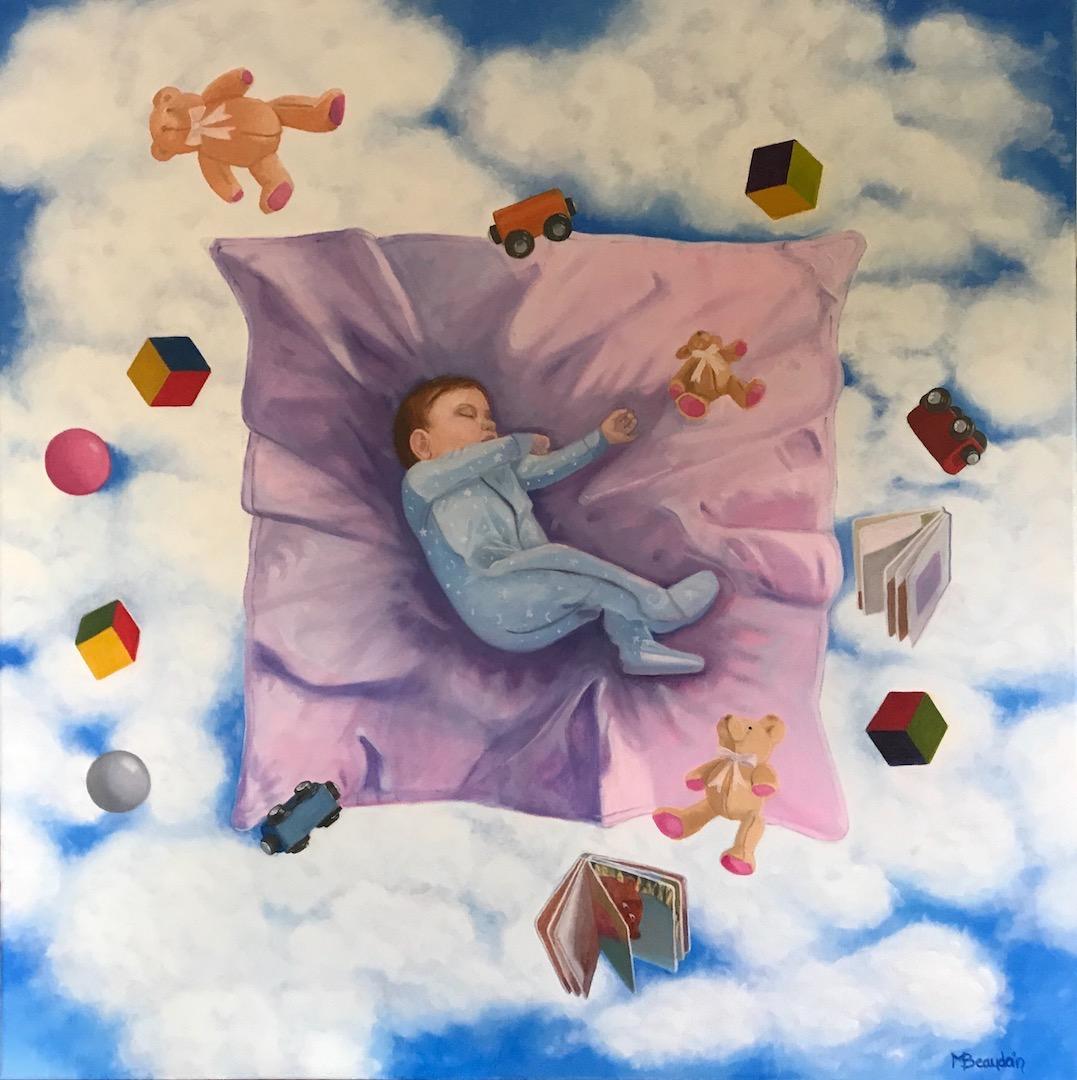 peinture à l'huile doux rêve de l'artiste peintre contemporaine Myriame Beaudoin alias MyriBo